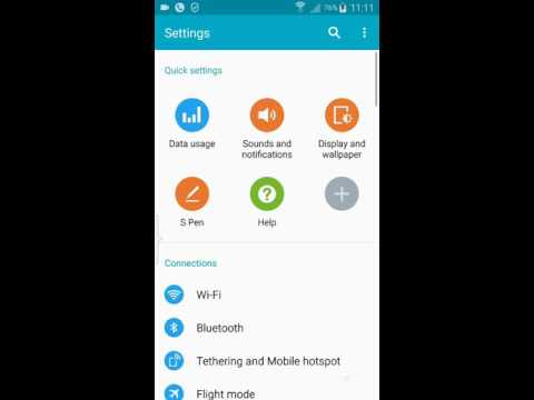 How to change the proxy error message on Galaxy Note 4 smartphone