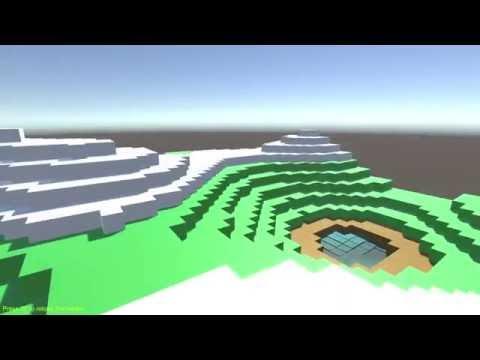 Randomized Voxel Terrain Test [Unity 3D]