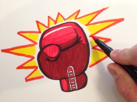 How to Draw a Boxing Glove