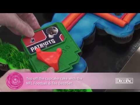 How to Create an NFL Football Goal Post Cupcake Cake
