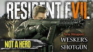 Resident Evil 7 Not A Hero DLC | NEW WEAPON | Wesker's Shotgun For Chris Redfield