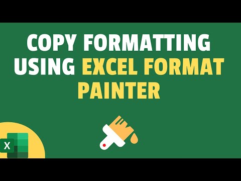 How to Use Format Painter to Copy Formatting in Excel