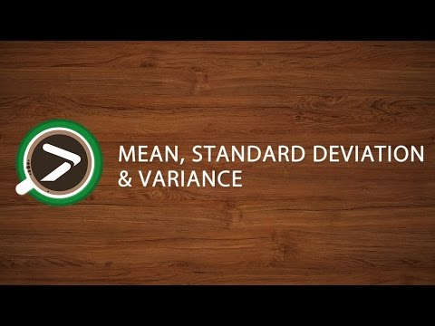 #02 Mean, Standard Deviation and Variance in Excel with XLSTAT