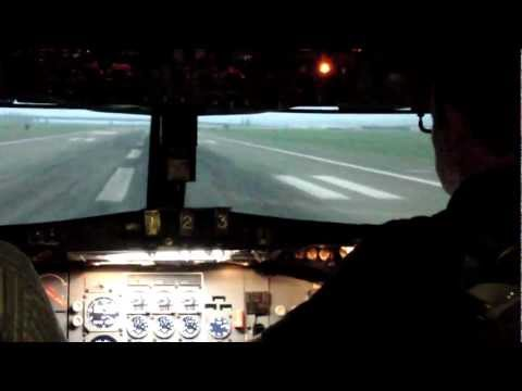 Boeing 727 right seat takeoff