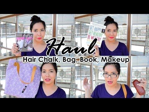 HAUL (Colored Hair Chalk, Makeup, Bag) - saytiocoartillero