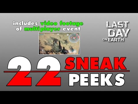 22 Sneak Peeks about the NEXT 7 BIG UPDATES after Update 1.8.5 in LAST DAY ON EARTH (Vid#152)
