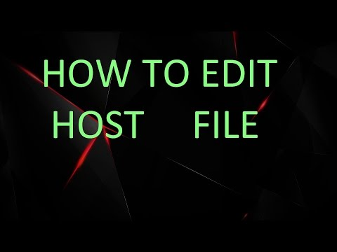 How TO Edit Host file in Windows 7/8/8.1/10