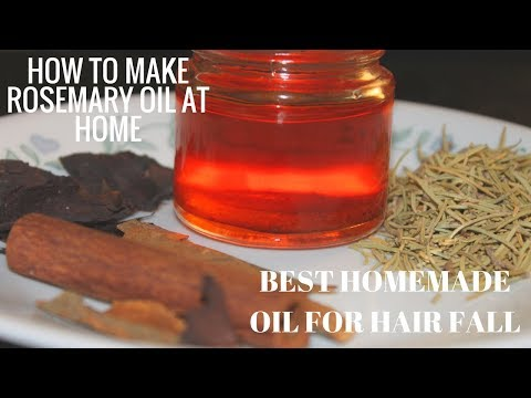 How To Make Rosemary Oil At Home/ Best Homemade Oil For Hair Fall/ Hindi