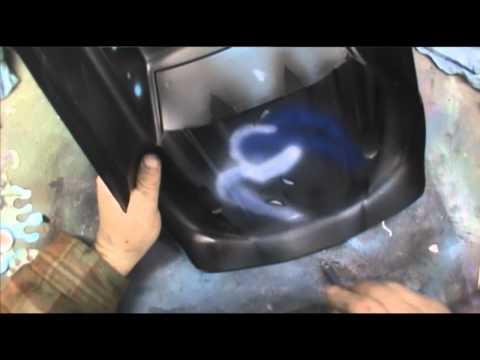 The Slash Joker part 2 (Neo for Iwata Airbrush spray test 3) w/ sound