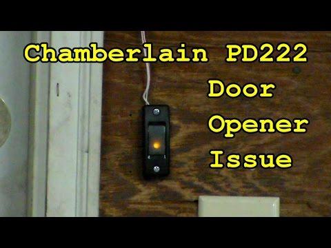 Chamberlain garage door issue