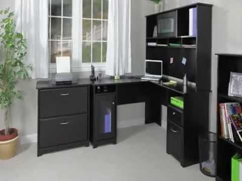 Corner Computer Desk Hutch Home Office Executive Workstation Furniture