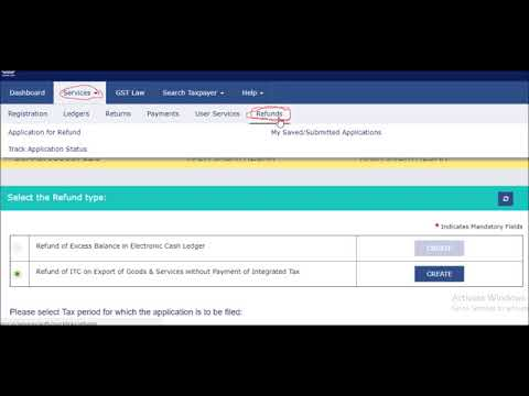 How to apply for gst refund for exporters live demo
