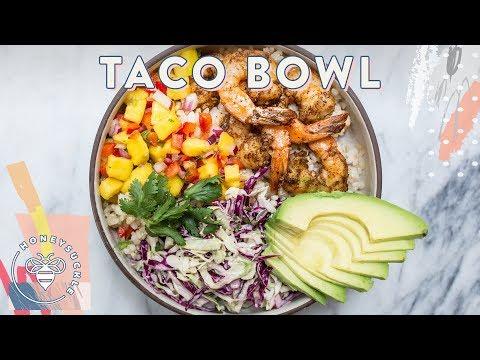 SHRIMP TACO BOWL - 30 Min Meal for #BuzyBeez