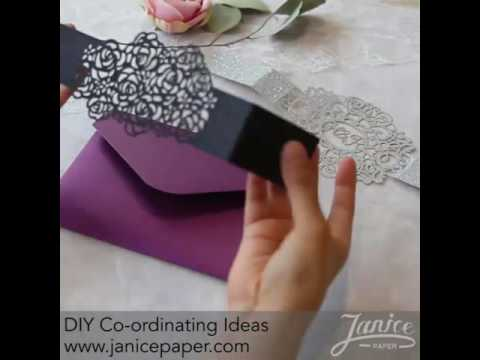 How to Use a Laser Cut Belly Band to embellish  Pocket Fold Invitations