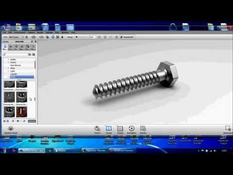 How to draw screw with SolidWorks  KeyShot rendering with and take - Solidworks ile vida çizmek.