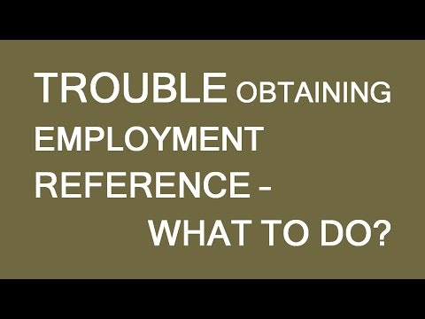 Work references difficulties. What to do?