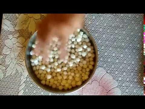 Crispy Nylon sabudana recipe Gas Stove and Microwave in Hindi