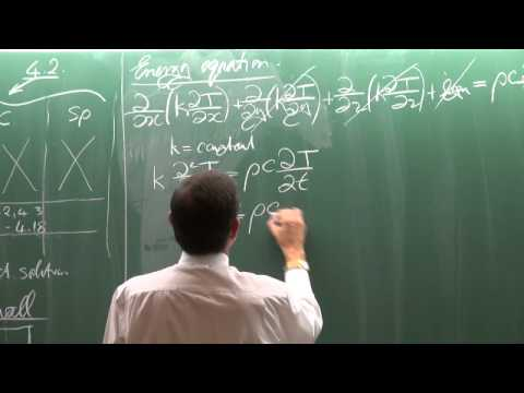 Lecture 05 (2014). Transient heat conduction. Large plane walls, long cylinders and spheres
