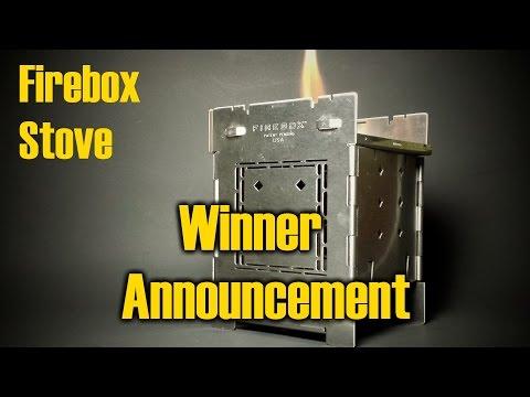 Firebox Stove - Winner Announcement