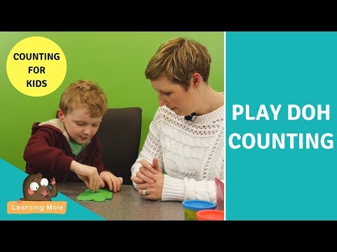 Play Doh Counting - Educational Toys - Counting for kids - ESL - EFL - Play Doh - Maths - Preschool