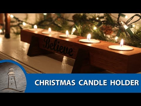 DIY Christmas Believe Candle Holder