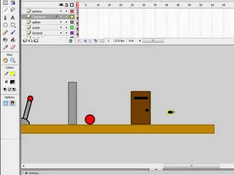 How to make a platform game in flash 8 part 10(Key for door)