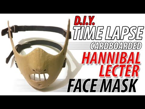 DIY Hannibal Lecter Cardboard Face Mask