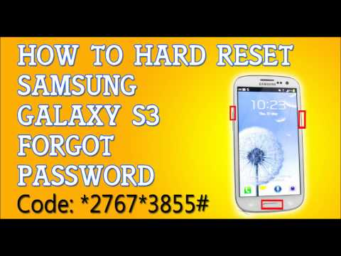 Forgot Password  Samsung Galaxy S3 How To Hard Reset
