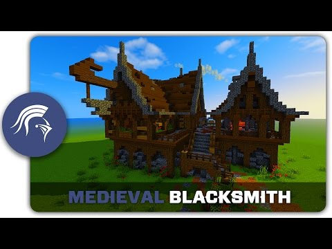 Minecraft Building Tutorial : How to build a Medieval Blacksmith