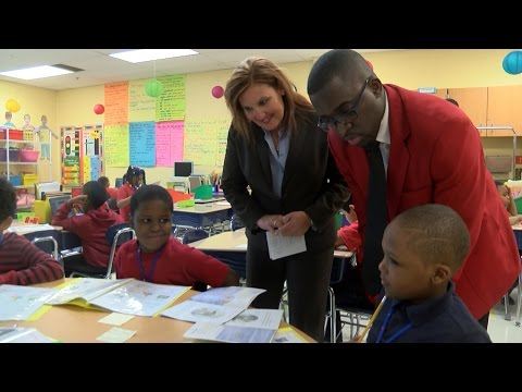 Ohio Lt. Gov., Cleveland Cavaliers Scream Team help students celebrate literacy month