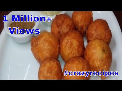 మైసూర్ బోండా    Tasty Mysore Bonda    Indian tasty breakfast     Crazy Recipies    Madhuri