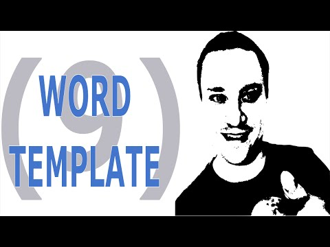 How to Create a Word Document Template