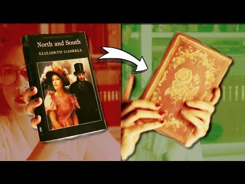 How To Fake An Old Book Cover - Super Easy Home Decor 5 min Craft
