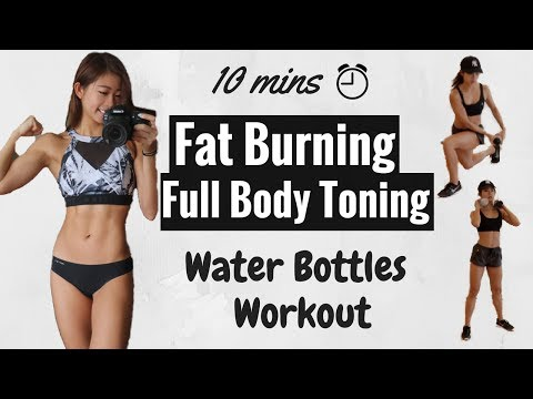 10 min Dumbbell / Water Bottles Full Body Fat-Burning HIIT Workout | At Home Routine