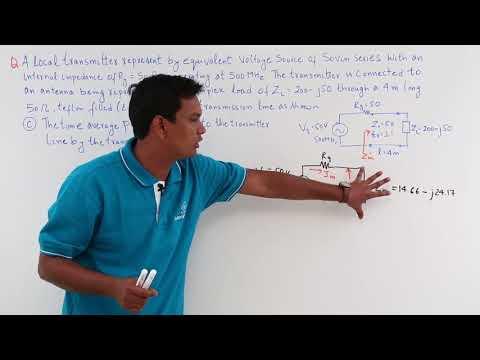 Average Power Transmission Line Numerical Example