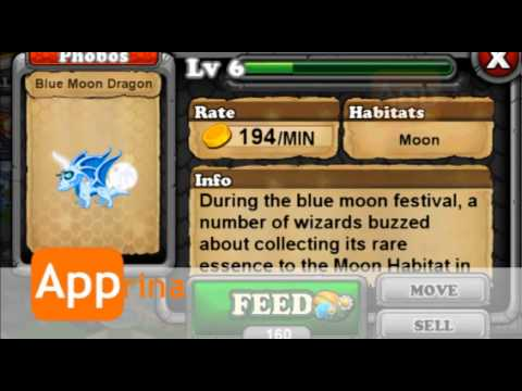How to breed Blue Moon Dragon in DragonVale Guide WORKS