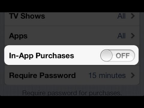 How to Disable In-app Purchases on iPhone, iPad or iPod Touch