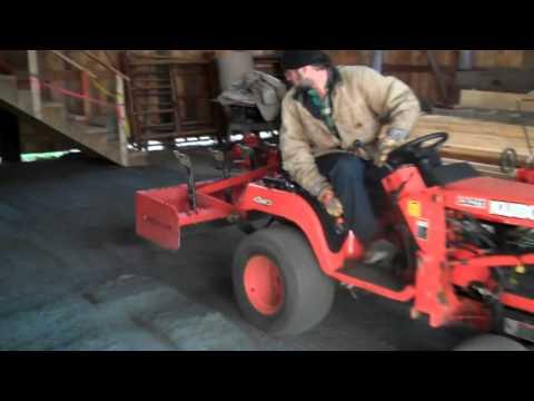 Installing Stone Dust Floor in Lombard Log Hauler Building