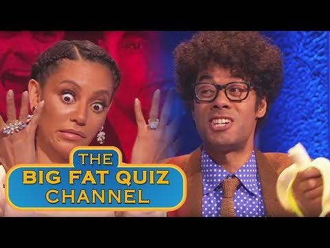 Richard Ayoade is Tanked Up and Mel B is Confused   Big Fat Quiz of the Year 2014