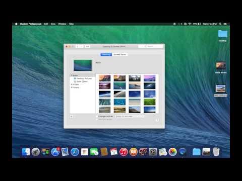 How To Change Desktop Background (Mac)
