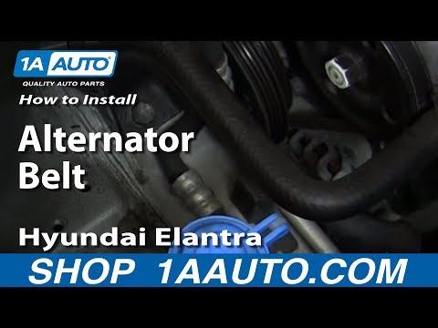 How To Install replace Alternator Belt 1999-06 Hyundai Elantra 2.0L