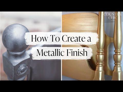 How To Create a Metallic Finish on Furniture | Metallic Furniture Faux Finish | Country Chic Paint