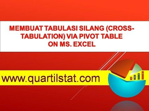Membuat Tabulasi Silang (Cross-tabulation) via Pivot Table pada Microsoft Excel