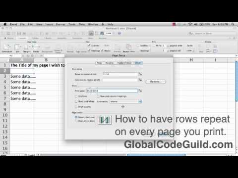 1.5 Excel How to Print Titles on Every Page