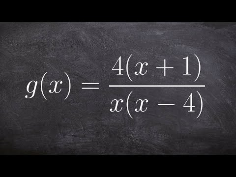 Learn how to find the asymptotes of a rational function