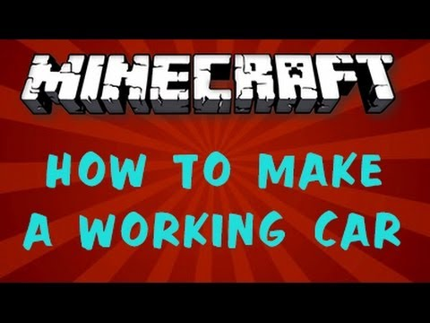 How To Make A Working Car in Minecraft With No Mods