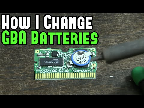 [GBA] How I replace Game Boy Advance Batteries (& Game Boy)