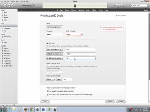 Set Up iTunes Account without a Credit Card