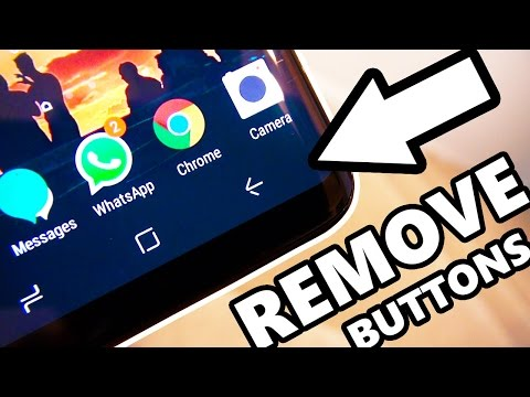 How to Remove Software Buttons - Immersive MODE Samsung Galaxy S8