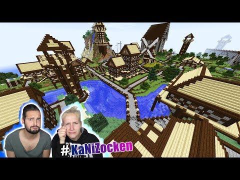 Nina + Kaan reagieren auf ALTMODISCHE STADT in Minecraft! Riesiges Mittelalter Dorf mit Reiterhof